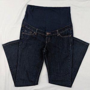 Thyme Maternity Dark Wash Skinny Jeans Sz M